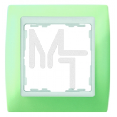 Рамка на 3 поста, S82, пастель зеленая - белый 82631-65