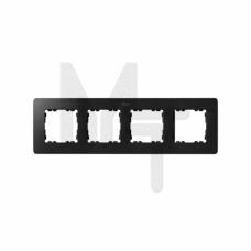 Рамка декоративная, 4 поста, Original, S82 Detail, графит-алюминий 8200640-238