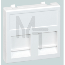 Адаптер на 2хRJ45 коннектора, К45, с защит.шторками, белый KB76-9