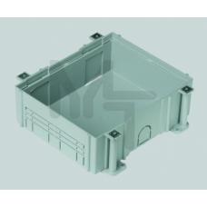 Монтажная коробка под люк в пол на 4 S-модуля, в бетон, глубина 80-130 мм, пластик G44