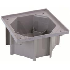 Монтажная коробка под влагостойкую основу, установка в бетон.стяжку, цвет серый KGE170-23