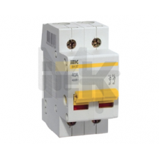Выключатель нагрузки (мини-рубильник) ВН-32 2Р  20А ИЭК MNV10-2-020
