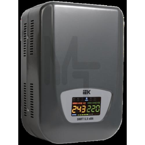 Стабилизатор напряжения настенный серии Shift 5,5 кВА IEK IVS12-1-05500