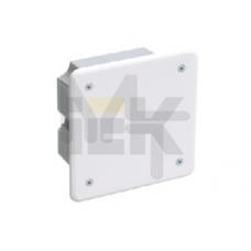 Коробка КМ41001 распаячная для твердых стен 92x92x45 (с саморезами, с крышкой) UKT11-092-092-040