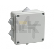 Коробка КМ41234 распаячная для о/п 100х100х50 мм IP55 (RAL7035, 6 гермовводов) UKO11-100-100-050-K41-55