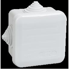 Коробка КМ41236 распаячная для о/п 70х70х40 мм IP44 (RAL7035, 4 гермоввода, защелкивающаяся крышка) UKOZ11-070-070-040-K41-44