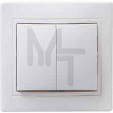 ВС10-2-0-КБ Выключатель 2кл 10А КВАРТА (белый) EVK20-K01-10-DM
