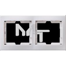 РГ-2-КБ Рамка 2местн. горизонт. КВАРТА (белый) EMK20-K01-DM