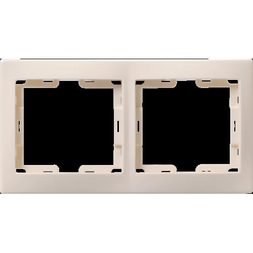 РГ-2-ККм Рамка 2местн. горизонт. КВАРТА (кремовый) EMK20-K33-DM