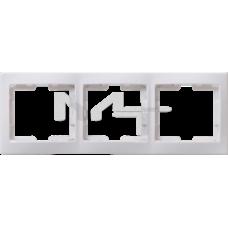 РГ-3-КБ Рамка 3местн. горизонт. КВАРТА (белый) EMK30-K01-DM