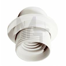 Ппл27-04-К12 Патрон пластик с кольцом, Е27, белый (50 шт), стикер на изделии, IEK EPP11-04-01-K01