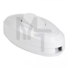 ВБ-01Б Выключатель одноклавишный разборный для бра, белый IEK EVB10-K01-10
