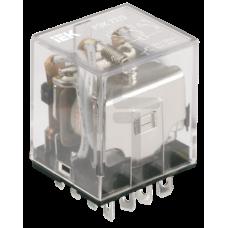 Реле РЭК77/3(LY3) с индикацией 10А 12В АC ИЭК RRP10-3-10-012A-LED