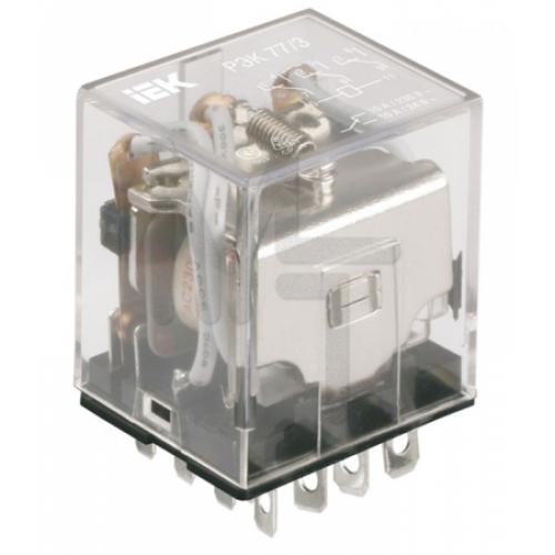Реле РЭК78/3(MY3) с индикацией 5А  24В АC ИЭК RRP20-3-05-024A-LED