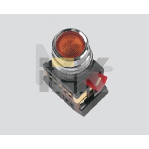 Кнопка ABLF-22 красный d22мм неон/240В 1з+1р ИЭК BBT10-ABLF-K04