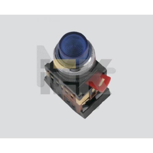 Кнопка ABLFP-22 белый d22мм неон/240В 1з+1р ИЭК BBT20-ABLFP-K01