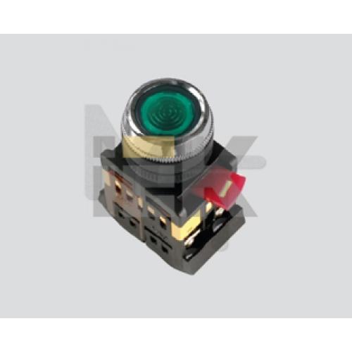 Кнопка ABLFS-22 зеленый d22мм неон/240В 1з+1р ИЭК BBT30-ABLFS-K06