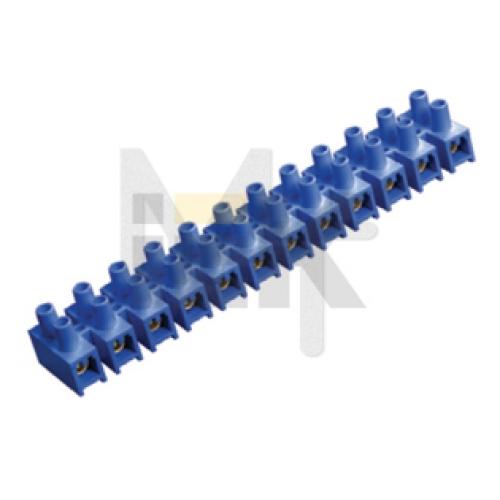 Зажим винтовой ЗВИ-10 н/г 2,5-6мм2 12пар ИЭК синие UZV6-010-06