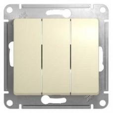 Glossa Беж Выключатель 3-клавишный, сх.3  Schnaider GSL000231