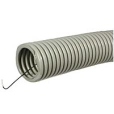 Труба гофрированная ПВХ легкая 350 Н серая с/з д20 (100м/4800м уп/пал) Промрукав PR.012031