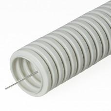 Труба гофрированная ПВХ Строительная серая с/з д25 (50м/2600м уп/пал) PR.032550