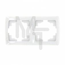 Мадрид Рамка 2-местная горизонтальная белая EKF EIM-G-302-10
