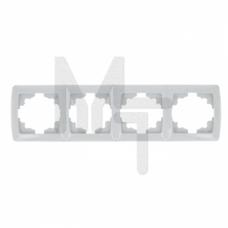 Мадрид Рамка 4-местная горизонтальная белая EKF EIM-G-304-10