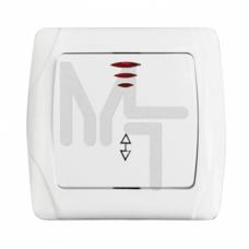 Выключатель проходной 1-кл. с инд. 10А бел. Мадрид EKF PROxima EIV10-125-10