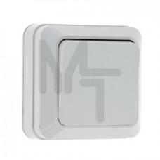 Рим Выключатель 1-клавишный 10А белый EKF ENV10-021-10