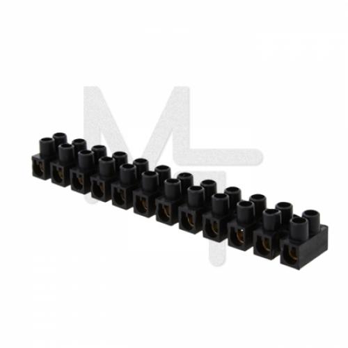 Колодка клеммная (16мм.) 30А полистирол черная (10шт.) EKF PROxima plc-KK-16-30-ps-b