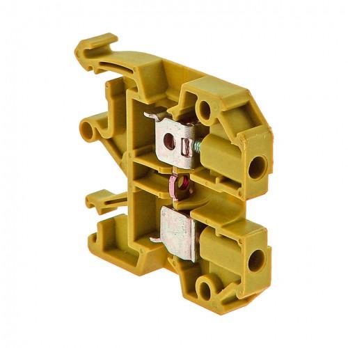 Колодка клеммная  JXB-4/35 желтая EKF PROxima plc-jxb-4/35y
