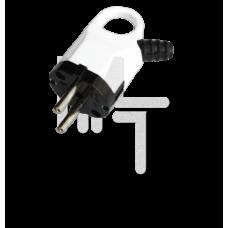 Вилка с кольцом с/з бел. 16А 250В EKF PROxima AVK16-10