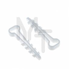 Дюбель-хомут (6х12 мм) для плоского кабеля белый (50 шт.) EKF PROxima plc-cd-6x12w
