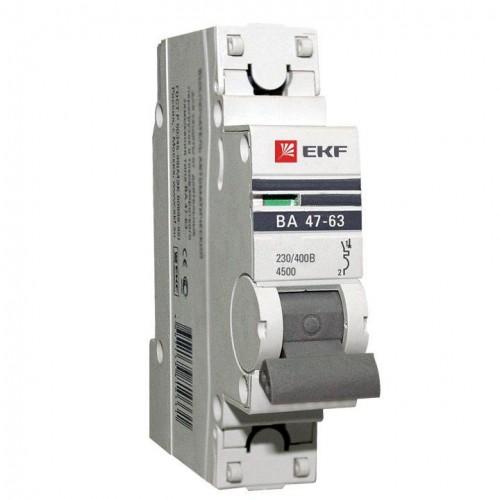 Автоматический выключатель 1P 6А (C) 6кА ВА 47-63 EKF PROxima mcb4763-6-1-06C-pro