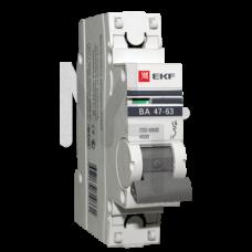 Автоматический выключатель 1P 25А (C) 4,5kA ВА 47-63 EKF PROxima mcb4763-1-25C-pro