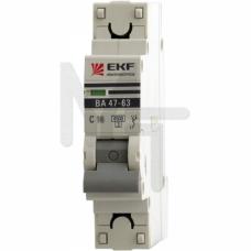 Автоматический выключатель 1P 40А (C) 4,5kA ВА 47-63 EKF PROxima mcb4763-1-40C-pro