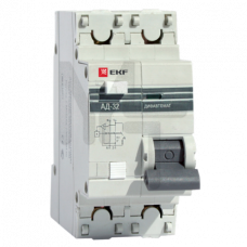 Дифференциальный автомат АД-32 1P+N 16А/30мА (хар. C, AC, электронный, защита 270В) 4,5кА EKF PROxima DA32-16-30-pro
