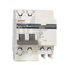 Дифференциальный автомат АД-32 1P+N 32А/30мА (хар. C, AC, электронный, защита 270В) 4,5кА EKF PROxima DA32-32-30-pro