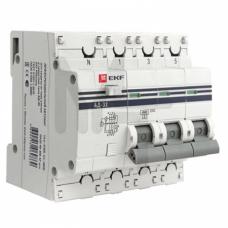 Дифференциальный автомат АД-32 3P+N 63А/30мА (хар. C, AC, электронный, защита 270В) 4,5кА EKF PROxima DA32-63-30-4P-pro