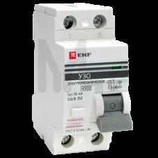 Устройство защитного отключения УЗО ВД-100 2P 16А/30мА (электромеханическое) EKF PROxima elcb-2-16-30-em-pro