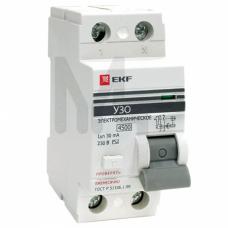 Устройство защитного отключения УЗО ВД-100 2P 25А/30мА (электромеханическое) EKF PROxima elcb-2-25-30-em-pro