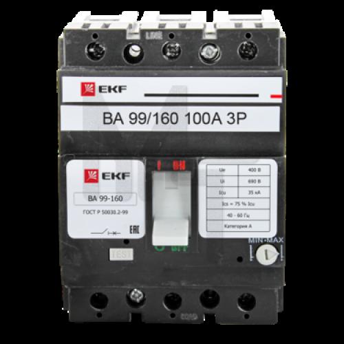 Выключатель автоматический ВА-99 160/100А 3P 35кА EKF PROxima mccb99-160-100