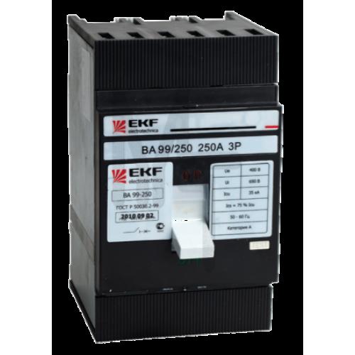 Выключатель автоматический ВА-99 250/125А 3P 35кА EKF PROxima mccb99-250-125