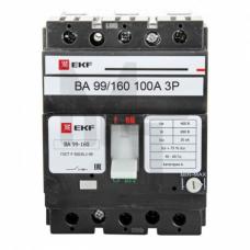 Выключатель автоматический ВА-99 160/160А 3P 35кА EKF PROxima mccb99-160-160