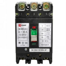 Выключатель автоматический ВА-99М  100/ 63А 3P 35кА EKF PROxima mccb99-100-63m