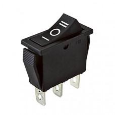 Клавишный переключатель YL202-01 3 положения черный с подсв. 230В 1НО+1НЗ (100шт/упак) ЭНЕРГИЯ Е0901-0064