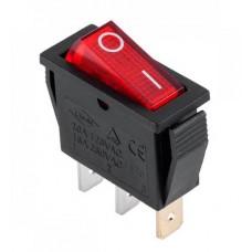 Клавишный переключатель YL202-03 2 положения черный/красная 1НО+1НЗ (100шт/упак) ЭНЕРГИЯ Е0901-0065