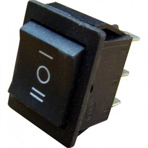 Клавишный переключатель YL206 3 положения черный 2НО+2НЗ (50шт/упак) ЭНЕРГИЯ Е0901-0066