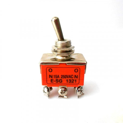 Выключатель-тумблер 1321 вкл-вкл 2 группы контактов (20шт/упак) ЭНЕРГИЯ Е1103-0005