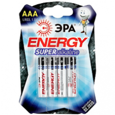 Батарейки ЭРА LR03-4BL ААА 4шт/уп C0038451